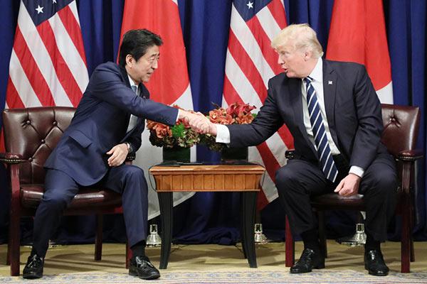 トランプ大統領と安倍晋三首相