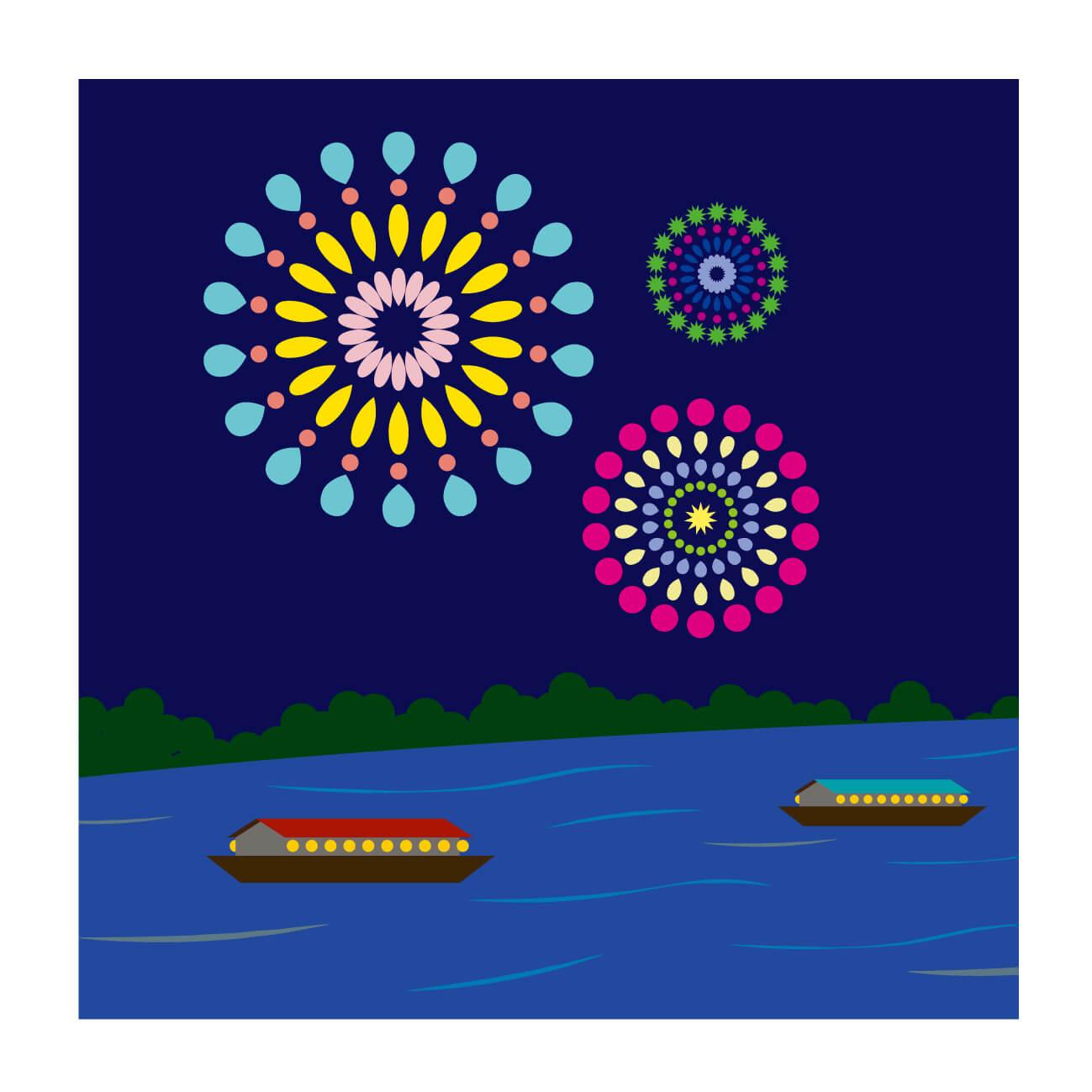 足立の花火2018有料席や屋形船の予約方法や値段!穴場も紹介
