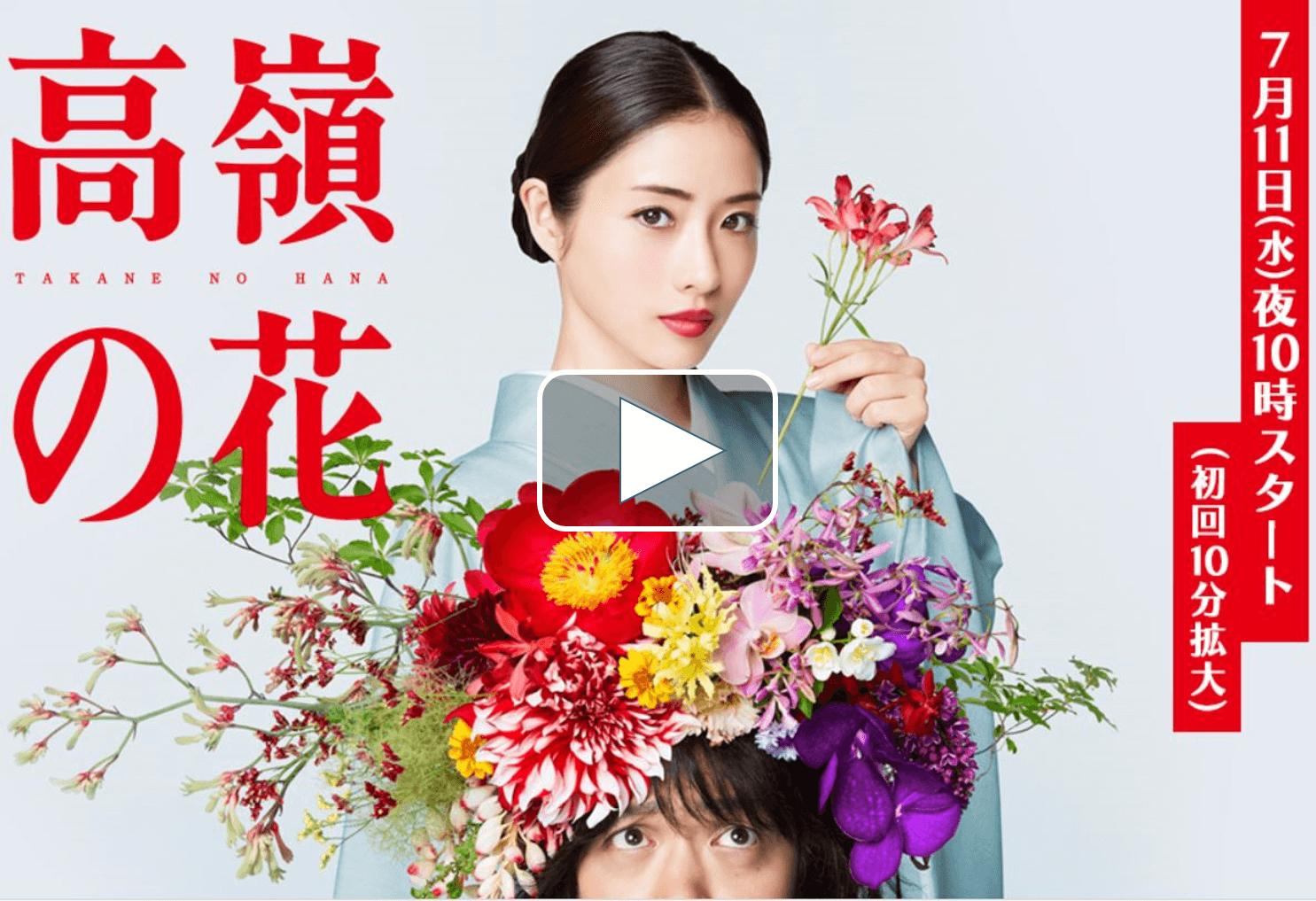 高嶺の花の動画を無料でフル視聴!pandoraやdailymotionは見れない?